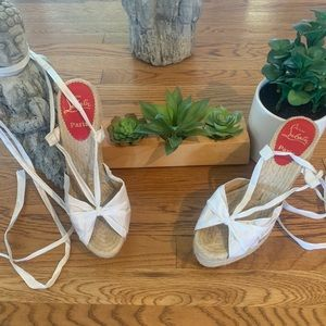 Christian Louboutin Espadrille Wedge Shoes